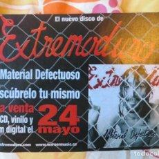 Música de colección: EXTREMODURO: FLYER PROMOCIONAL,MUY RARO !!!. Lote 234364530