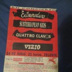 Música de colección: EXTREMODURO: FLYER PROMOCIONAL CONCIERTO BARCELONA (MUY RARO)!!!. Lote 234375435