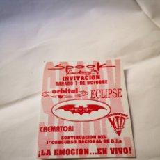 Música de coleção: SPOOK FACTORY DESCUENTO FLYER DISCOTECA VALENCIA RUTA BAKALAO. Lote 234687650
