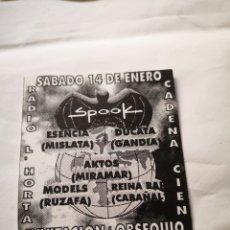 Música de coleção: SPOOK FACTORY DESCUENTO FLYER DISCOTECA VALENCIA RUTA BAKALAO. Lote 234687775