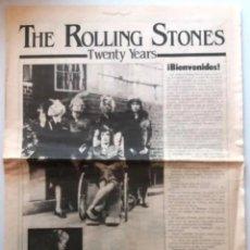 Música de colección: THE ROLLING STONES TWENTY YEARS BIENVENIDOS / JOSE RAMON PARDO /1982. Lote 235460360