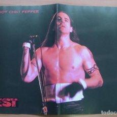 Música de colección: RED HOT CHILI PEPPERS SEPULTURA POSTER 1996 MUY RARO !!. Lote 236212970