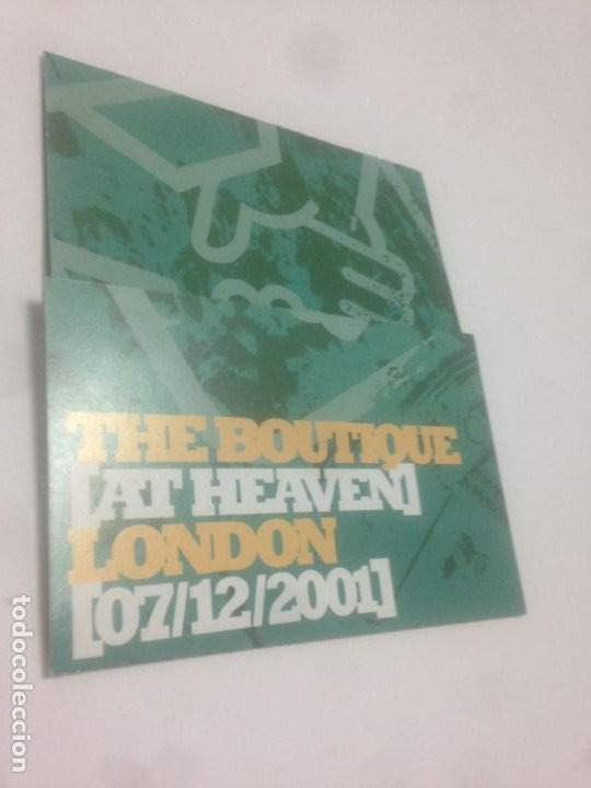 FLYER BUGGED OUT MEETS BOUTIQUE.HEAVEN LONDON.2001.DJ HELL.MISS KITTIN.TIMO MAAS.CHEMICAL BROTHERS (Música - Varios)