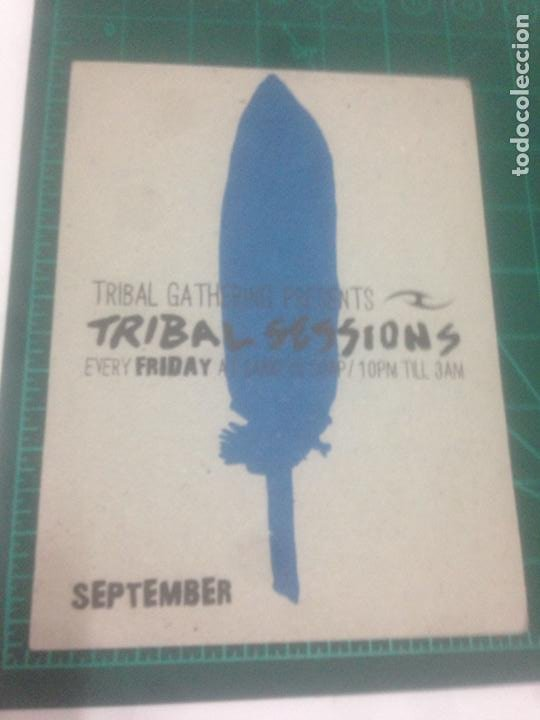 FLYER TRIBAL SESSIONS GATHERING MANCHESTER 2003. H FOUNDATION.TODD TERRY.STEVE LAWLER.PLUMP DJS. (Música - Varios)