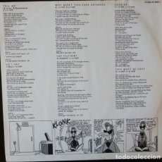 Música de coleção: HOJA CON LETRAS DEL LP: ROBERTO JACKETTI AND THE SCOOTERS – OH... NOT AGAIN - NETHERLANDS 1985. Lote 238856440