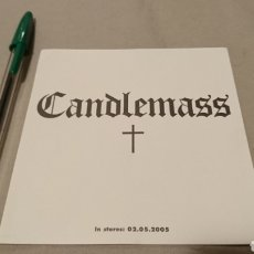 Musique de collection: CANDLEMASS STICKER PEGATINA. Lote 241515360
