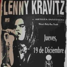 Música de colección: CARTEL LENNY KRAVITZ. Lote 242127305