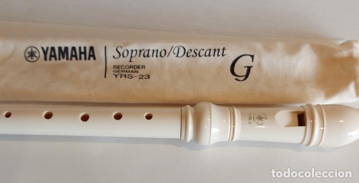 FLAUTA DULCE YAMAHA / SOPRANO/DESCANT RECORDER GERMAN / YRS 23 G / COMO NUEVA. CON FUNDA. (Música - Varios)
