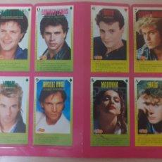 Música de colección: LOTE DE 8 CARTAS SUPER POP CON PREGUNTAS. MADONNA, MIGUEL BOSÉ, GEORGE MICHAEL. Lote 243466005