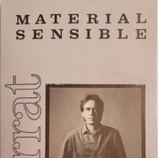 Música de colección: SERRAT-CONCIERTO MATERIAL SENSIBLE-CANCIONERO. Lote 243602660