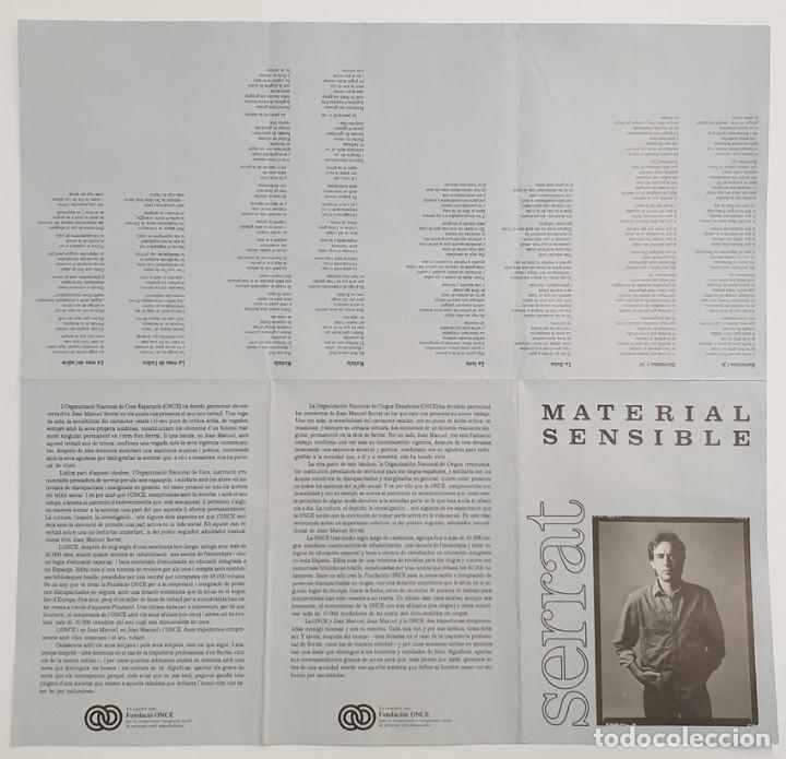 Música de colección: SERRAT-CONCIERTO MATERIAL SENSIBLE-CANCIONERO - Foto 2 - 243602660