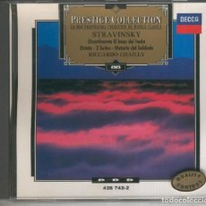 Música de colección: CD MUSICA CLASICA: STRAVINSKY: DIVERTIMENTO-EL BESO DEL HADA-SUITE NUMERO 1 Y 2. Lote 243933645