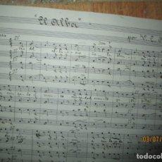 Música de colección: PARTITURA MANUSCRITA .- V.E.AGUAYO.- TITUOI: EL ALBA-CONTIENE LETRA Y MUSICA .(HACIA 1900). Lote 13006537