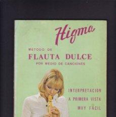 Música de colección: METODO DE FLAUTA DULCE POR MEDIO DE CANCIONES - ED. MARIANO BIU 1975. Lote 245096340