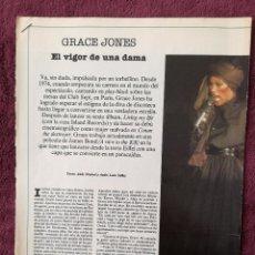 Música de colección: GRACE JONES - ANDY WARHOL - EL PAIS. Lote 245956325