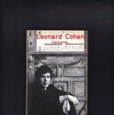 Música de colección: LEONARD COHEN - CANCIONES - EDITORIAL FUNDAMENTOS 1979 / 1ª EDICION. Lote 246297340