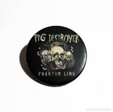 Música de colección: PIG DESTROYER - PHANTOM LIMB IMÁN NEVERA 59MM - GRINDCORE. Lote 246366630