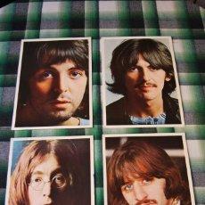 Música de colección: CUATRO FOTOGRAFÍAS DE THE BEATLES - JOHN LENNON, PAUL MCCARTNEY, GEORGE HARRISON Y RINGO STARR. Lote 246575205