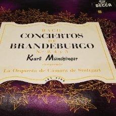 Música de colección: BACH CONCIERTOS DE BRANDEBURGO 2,4 Y 5 DECCA. ORQUESTA DE CAMARA DE STUTTGART.. Lote 247765385