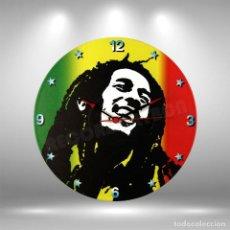 Música de colección: RELOJ DE DISCO LP DE BOB MARLEY. Lote 248055455