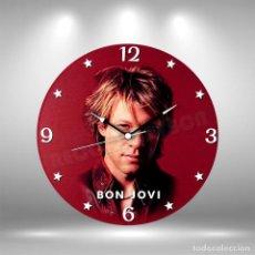Música de colección: RELOJ DE DISCO LP DE BON JOVI. Lote 248056980
