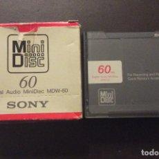 Música de colección: SOMY MINI DISC ,DIGITAL AUDIO MINIDISC MDW-60(CUATRO CINTAS NUEVAS). Lote 253278890