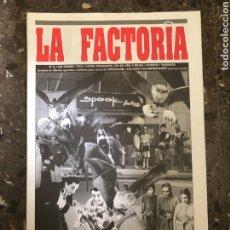 Música de colección: SPOOK FACTORY REVISTA LA FACTORIA DISCOTECA VALENCIA RUTA BAKALAO. Lote 254230285