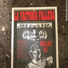 Música de colección: SPOOK FACTORY REVISTA LA FACTORIA DISCOTECA VALENCIA RUTA BAKALAO. Lote 254230425