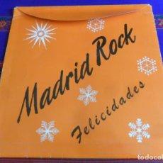 Música de colección: CARPETA DISCO DE VINILO LP TIENDA MADRID ROCK. FELICIDADES. 34X34 CMS. HISTÓRICA Y MUY RARA.. Lote 256156080