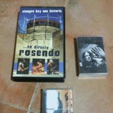 Música de colección: ROSENDO DIRECTO VHS Y DOS CINTAS. Lote 261599205