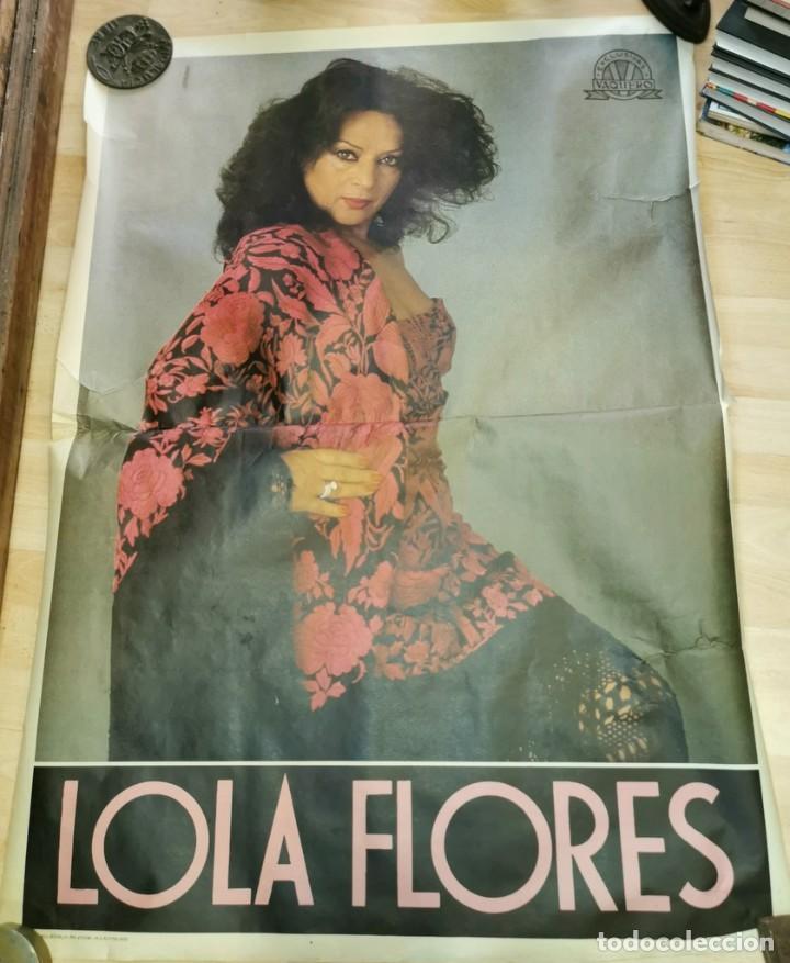 1982, ESPECTACULAR CARTEL DE LOLA FLORES, GRAN TAMAÑO , 80X110 CMS (Música - Varios)