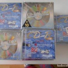 Música de colección: CD RECORDABLE. LOTE DE 49 CD-R AUDIO NUEVOS A ESTRENAR. PHILIPS Y TNB.. Lote 262734745