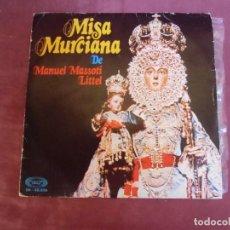 Música de colección: SINGLE. MISA MURCIANA.1973.MOVIE PLAY.. Lote 262951540