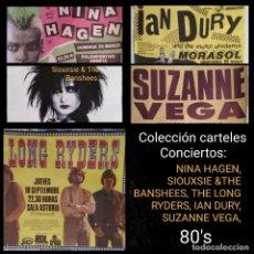Música de colección: FANTÁSTICA COLECCIÓN CARTELERIA ORIGINAL 80'S. LEER DESCRIPCIÓN, VER FOTOS. Lote 262953750