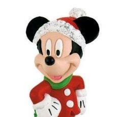 Música de colección: DISNEY MICKEY MOUSE & FRIENDS FIGURE MICKEY CHRISTMAS 7 CM - BULLYLAND. Lote 263031885