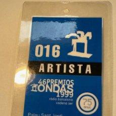 Música de colección: BACKSTAGE ARTISTA PREMIOS ONDAS 1999, VER FOTOS (3,33 ENVÍO CERTIFICADO). Lote 263173290