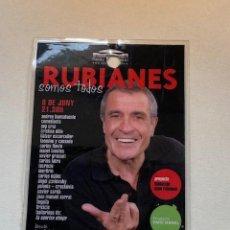 Música de colección: BACKSTAGE RUBIANES SOMOS TODOS,SERRAT,TRICICLE... (3,33 ENVÍO CERTIFICADO). Lote 263173665