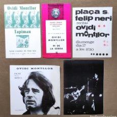 Musica di collezione: OVIDI MONTLLOR RECITAL PROGRAMA LOTE 5 AÑO 1971 - 1973. Lote 266864024