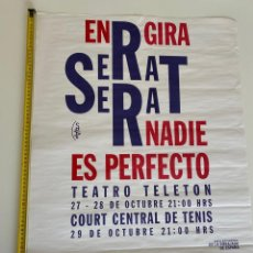Música de coleção: POSTER-AFICHE ORIGINAL, JOAN MANUEL SERRAT 1994, CHILE.VER FOTOS.(3,33 ENVÍO CERTIFICADO). Lote 268031899