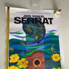 Música de coleção: POSTER-AFICHE ORIGINAL JOAN MANUEL SERRAT 1992 PUERTO RICO.VER FOTOS.(3,33 ENVÍO CERT). Lote 268041044