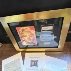 Música de colección: MARILYN MONROE AUTHENTIC HAIR LOCK 1962 / MUESTRA DE PELO CON DOCUMENTACIÓN PROCEDENCIA (T1). Lote 268298114