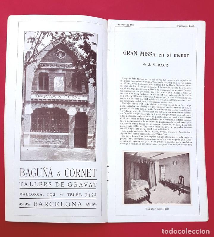 PROGRAMA - 1911 - FESTIVALS BACH - PROGRAMA GENERAL - PALAU DE LA MÚSICA (Música - Varios)