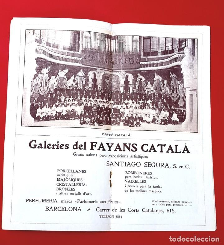 Música de colección: PROGRAMA - 1911 - FESTIVALS BACH - PROGRAMA GENERAL - PALAU DE LA MÚSICA - Foto 4 - 269313793