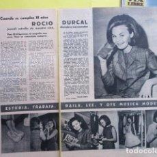 Música de colección: AÑO 1964 - ROCIO DURCAL - 2 PAGINAS. Lote 276492083