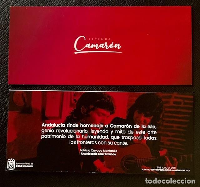TARJETA INVITACIÓN INAUGURACIÓN MUSEO CAMARÓN DE LA ISLA (Música - Varios)
