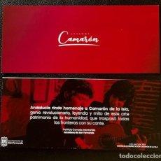 Música de colección: TARJETA INVITACIÓN INAUGURACIÓN MUSEO CAMARÓN DE LA ISLA. Lote 277186948