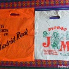 Música de colección: BOLSA TIENDAS DE DISCOS TUS DISCOS EN MADRID ROCK Y BOLSA DISCOS JM DE MADRID. 43X34 CMS. MÍTICAS.. Lote 287010563