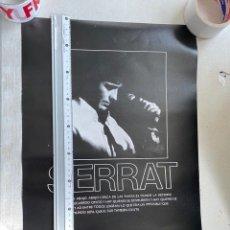 Musica di collezione: CARTEL ORIGINAL DOBLE CARA JOAN MANUEL SERRAT AÑOS 80 A DOBLE CARA.5 EUROS ENVÍO CERT.. Lote 287374638