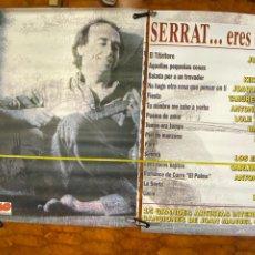 Musica di collezione: CARTEL 2 PIEZAS ORIGINAL SERRAT ERES ÚNICO, SABINA, LOQUILLO, ANTONIO FLORES...197X140.(4,36 ENVÍO). Lote 287377758