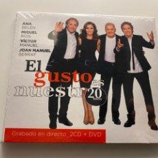 Musica di collezione: ANA BELÉN JOAN MANUEL SERRAT MIGUEL RÍOS VÍCTOR MANUEL - EL GUSTO ES NUESTRO 20 AÑOS (2 CDS + DVD). Lote 287378808